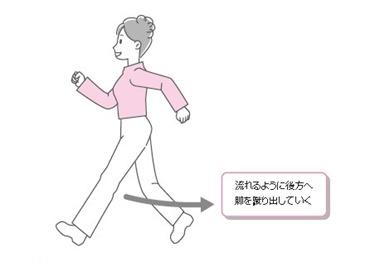 歩行における流れ